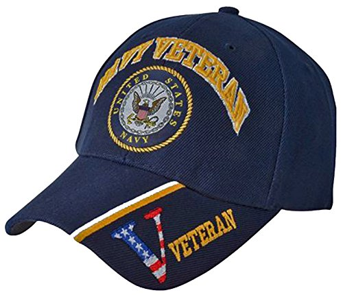 US NAVY Cap Blue Patriotic Veteran Logo Hat Mens Womens (United States Navy Hat Cap)