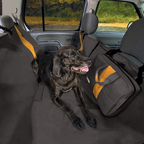 Kurgo Dog Car Seat Cover | Pet Bench Seat Covers | Hammock Style Car Cover | Water Resistant | Scratch Proof | Cars | 55 | Wander Hammock Style | Black
