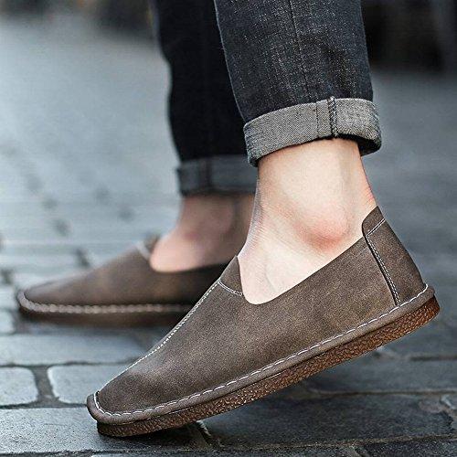 Chaussures les TYERY homme britannique conduite gris tous décontracté de respirant pour confortable Chaussures tendance Chaussures cuir Match en YqxY6pC