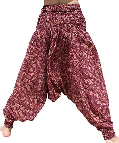 RaanPahMuang Light Cotton Mao Smocked Harem Pants in Floral Prints