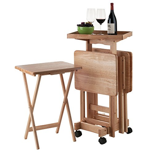 Winsome Wood 42820 Isabelle 6 Piece Snack Table Set, Natural by Winsome Wood (Image #8)