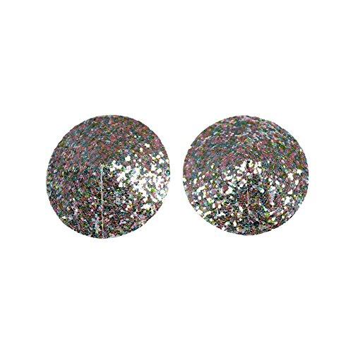 LIPS & CHERRY Pezoneras Shiny Spangle, Plateado (Plata F065), Medium (Tamano del FabricanteS/M) para Mujer