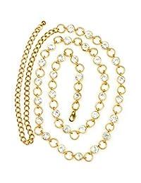NYfashion101 Fashionable Adjustable Single Link Chain Belly Chain Belt IBT2008G