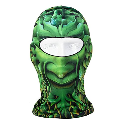 [Hot Novelty Thin 3D Animal Outdoor Cycling Skiing Balaclava Neck Warmer Hood Breathable and Fast Dry Full Face Mask Helmet Beanie Hat Headband for Motorcycle Bicycle Swimming Riding Climbing] (Cheap Homemade Halloween Games)