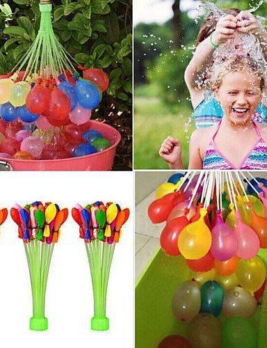 Crazy Wasserballons Pre tied Wasserballons 3 Bündel mit je 37 Wasser-Bomben füllen in 60 Sekunden (111 stücke)