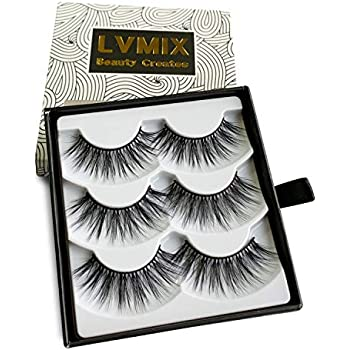 Amazon.com : LVMIX Dramatic 3D False Lashes Faux Mink ...