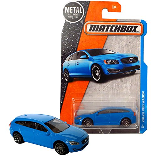 - Matchbox Year 2016 MBX Adventure City Series 1:64 Scale Die Cast Metal Car #8 - Blue Luxury Station WAGON VOLVO V60 DJV37