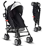 INFANS Lightweight Baby Umbrella Stroller, Foldable Infant Travel Stroller with 4 Position Recline