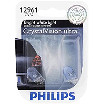 Philips 12961CVB2 12961 CrystalVision Ultra Miniature Bulb, 2 Pack