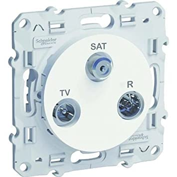Schneider Electric SC5S52A461 PRISE ODACE TV/SAT/FM  BLANC