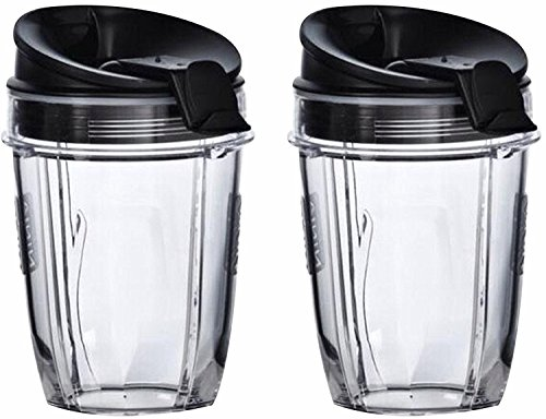 Nutri Ninja Cups | 18-Once Tritan Cups with Sip & Seal Lids. Compatible with BL480, BL490, BL640, & BL680 Auto IQ Series Blenders (Pack of 2)