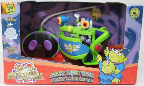 Disney Parks Buzz Lightyear Star Command XP-37 Space Cruiser Radio Control Vehicle - Disney Parks Exclusive & Limited Availability Command Cruiser