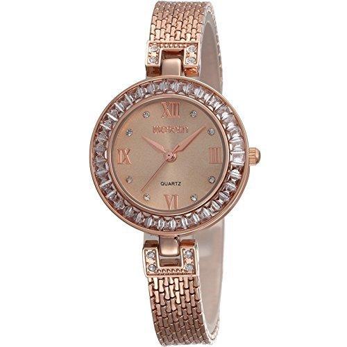 Ultimo Modelo (2015) Mujer Chica Oro Rosa Fino Pulsera Inoxidable Reloj: Amazon.es: Relojes