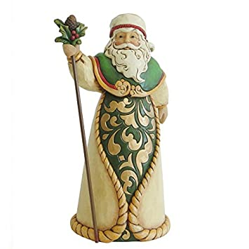 Enesco Jim Shore Hwc Figurine Green ivory gold sa
