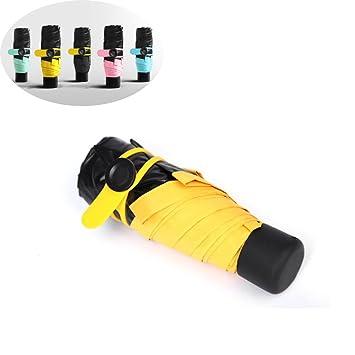 Fuson paraguas de bolsillo, Ultra Mini (6,7in) compacto ligero Ultra Pequeño