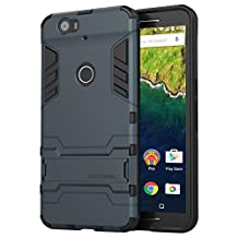 Nexus 6P Case, HOOMIL Hybrid Armor Series Impact Resistant Shock Absorption Protective Case Cover for Huawei Nexus 6P - Blue Black (HC6P01)