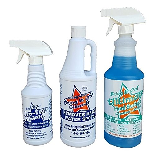 Bring It On Triple Combo Cleaning Kit Clean Bathrooms Clean Kitchen Hard Water Spots Shower Doors Sinks and Tubs