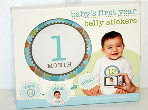 082272945678 - Stepping Stones Baby's First Year Belly Stickers 082272945678 carousel main 0