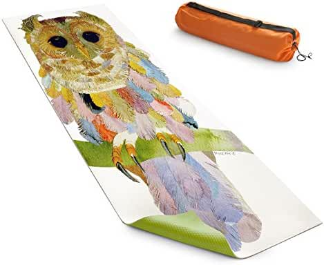 DiaNoche Designs Yoga Mats By Marley Ungaro - Owl