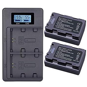 Lopbinte 2Pc 2280Mah Np-Fz100 Npfz100 NP Fz100 Batería + LCD ...