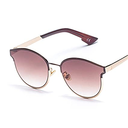 Sumferkyh Gafas de Sol Redondas Metal Trend Gafas de Sol Cat ...