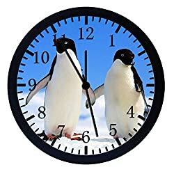 Extra Large Size 14 Cute Penguins Wall Clock Home Office Decor or Nice For Gift W30