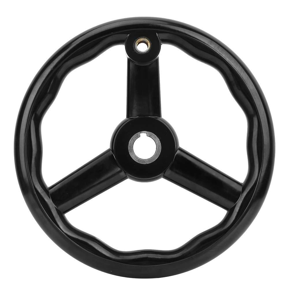 for Machine Tool Acogedor 9.8inch Hand Wheel,Black Bakelite Hand Wheel with Handle,Anti-Slip,Solid and Durable