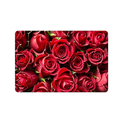Amazon Com Valentine S Day Gifts Presents Red Roses Doormat