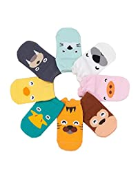 8 Pairs Unisex Baby Infant Cotton Anti-skid Animal Socks (Random Color)
