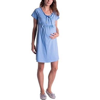 più recente c6ecb 22dc3 Camicia da Notte Premaman Cotone Vestito Maternita Donna ...