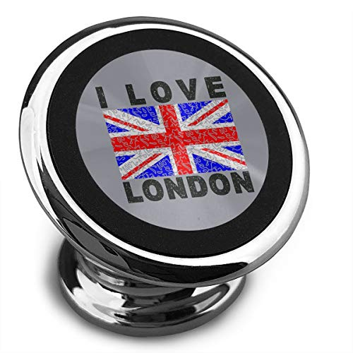 I Love London Universal Gray Smartphone Car Mount Holder Cradle for Smartphones and Mini Tablets ()