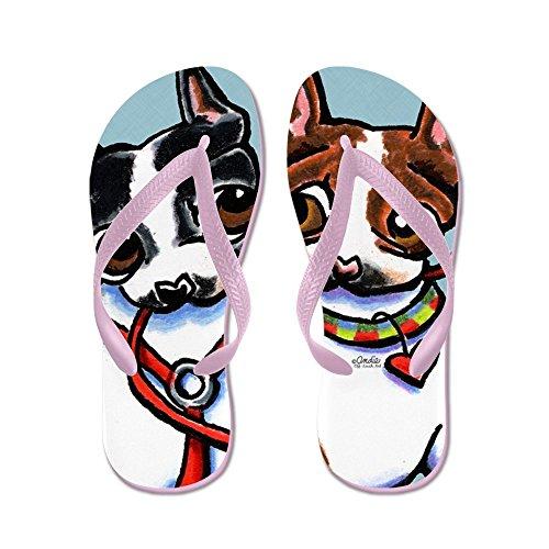 CafePress BT Walking Buddies - Flip Flops, Funny Thong Sandals, Beach Sandals Pink