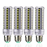 led 15w corn - HUIERLAI 4-Pack 15W Super Bright LED Corn Light Bulb for Residential and Commercial Projec E26/E27 ( 120W Incandescent Bulb ) 1380Lm AC85-265V White(6000K) Non-Dimmable.