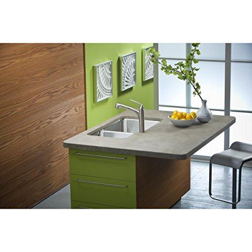 Elkay Lustertone ELUH3520R Offset 60 40 Double Bowl Undermount Stainless Steel Kitchen Sink
