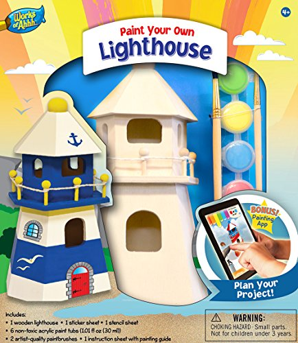 MasterPieces Works of Ahhh Lighthouse Wood Paint Kit