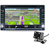 Naladoo 6.2 Inch Double Din GPS Navigation 1080P WIFI Bluetooth AM FM Stereo HD Touch Screen Support DVD/CD Android 5.1.1 With Back Up Camera
