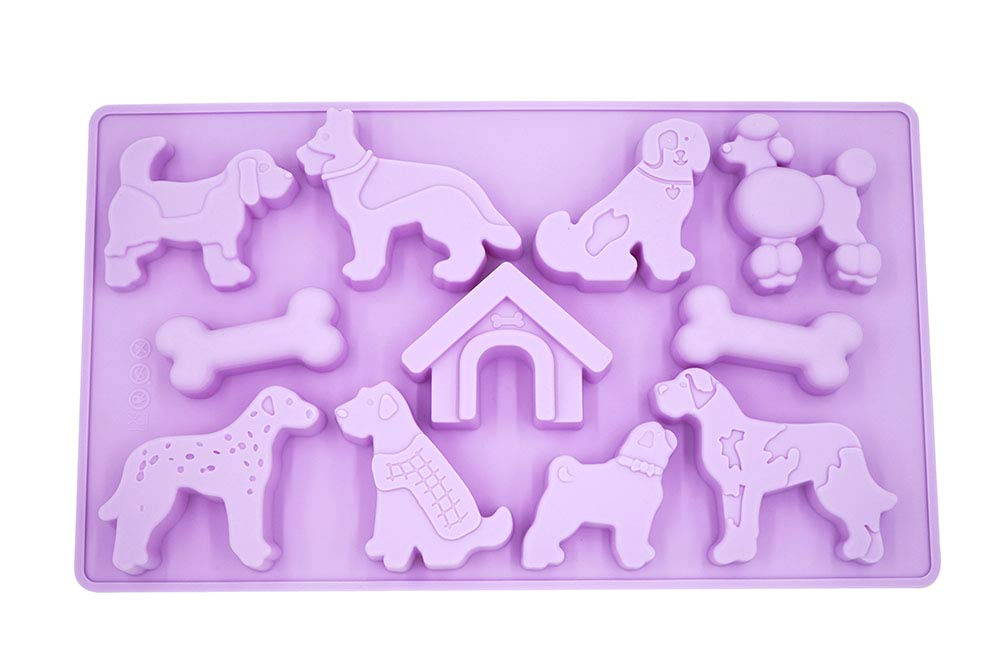 Dog shapes silicone mold