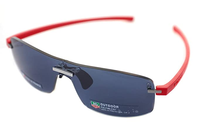 02cd57d1d0 TAG HEUER RIMLESS REFLEX TH3591 102 Mens Sport Sunglasses PALLADIUM  ROUGE SILVER RED GREY OUTDOOR  Amazon.co.uk  Clothing