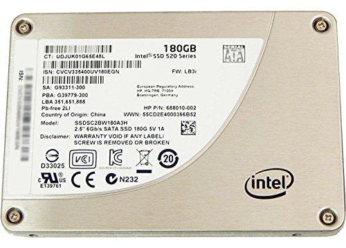 HP 180GB SSD 520 Series SATA 3 2.5in Drive 688010-002 SSDSC2BW180A3H -