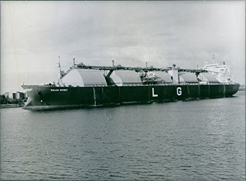 Vintage Photo Of The Liberian Tanker  Golar Spirit   Built In Japan Between 1977 And 1981 At Anchor In The West German Port Of Wilhemshaven  1984