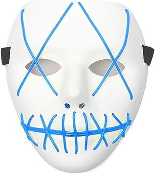 AnseeDirect Purge Mask Horror Mask Hombre Halloween Mascara Led ...
