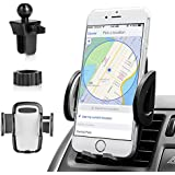 Car Phone Mount, Cell Phone Holder for Car 360° Rotation Air Vent Car Phone Mount Holder Cradle Fits All Smartphones Including Phone X/8/8 Plus/7/7 Plus, Galaxy S9/S9 Plus/S8/S8 Plus and More
