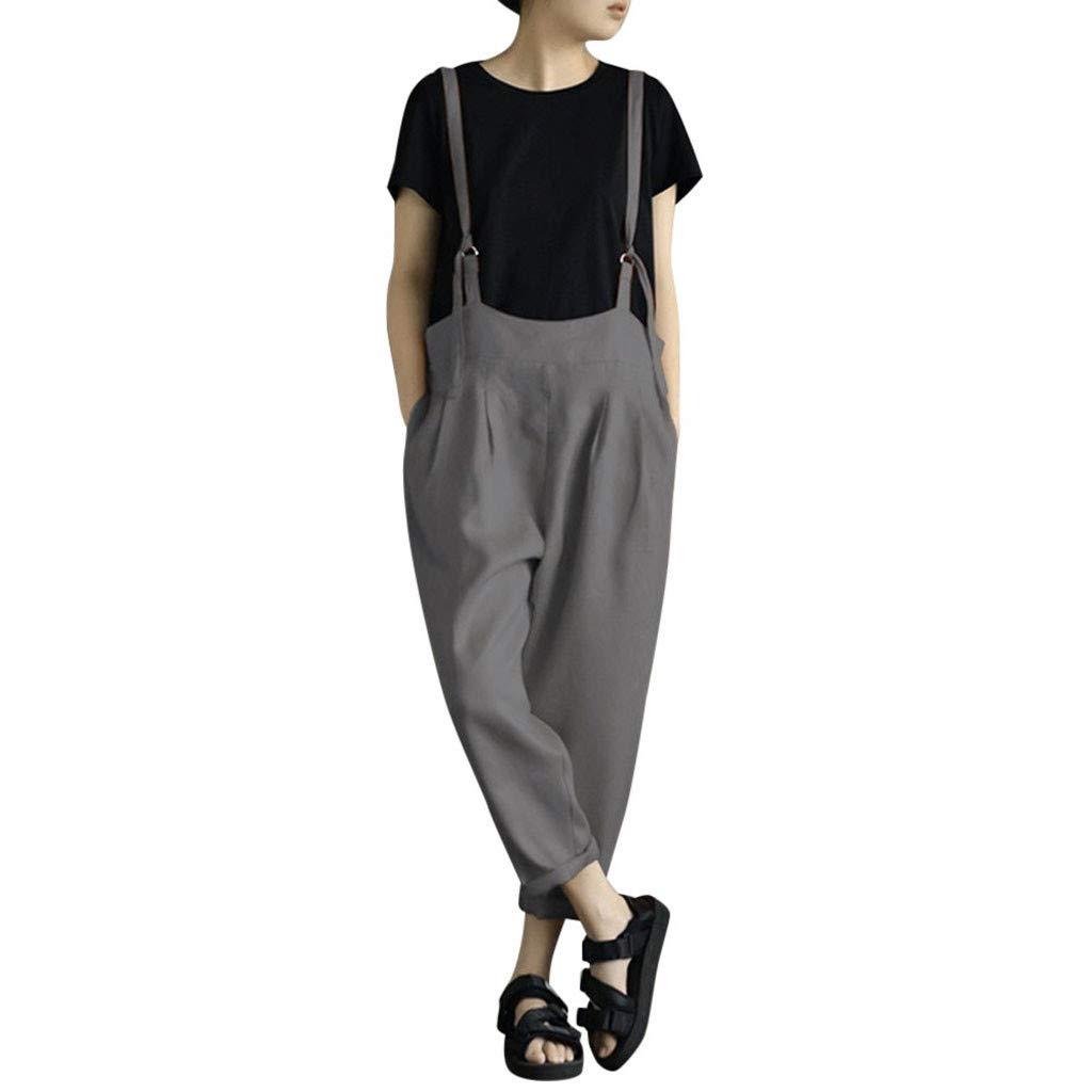 Topgrowth Pantaloni Tuta Donna Sciolto Casual Cascante Pantaloni con Bretelle Pantaloni di Harnes Pantalone con Tasche Primavera