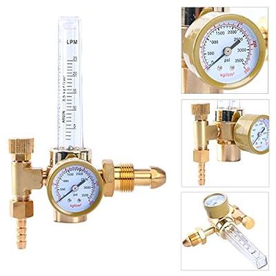 Yaetek Argon CO2 Mig Tig Flow meter Welding Weld Regulator Gauge Gas Welder