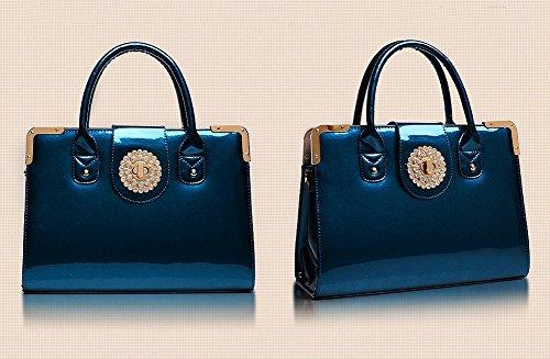 Promithi Ladies Retro Exquisite Diamond Shoulder Bag Candy Handbag (Free Size, candy blue)