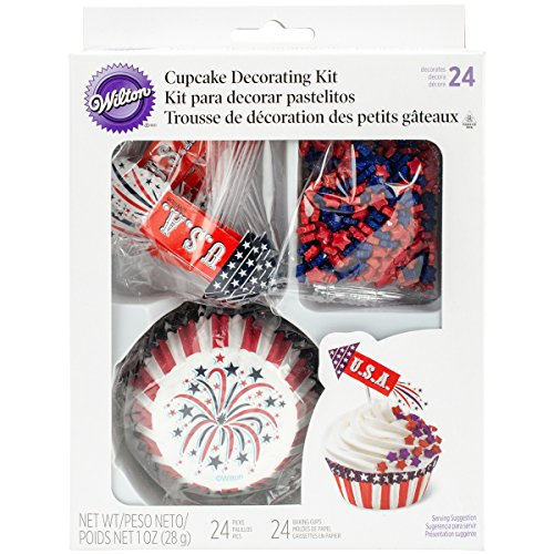 Wilton 415-4129 4th of July Cupcake Decorating Kit