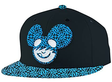 b4562f8a46b Amazon.com  Dj Deadmau5 Snapback Hat Cap Flat Bill Black Logo Mouse ...