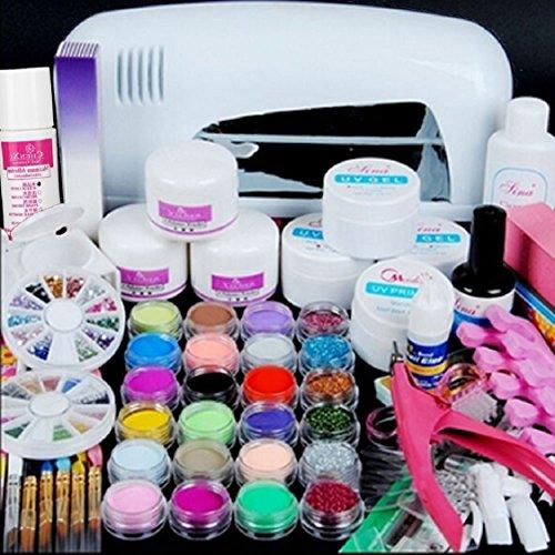Ultimate Nail Art Tools Kit ,Ikevan Hot Pro Full 9W UV Wh...