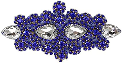 Royal Blue High Quality Hot Fix// Iron On Crystal Diamante Rhinestones