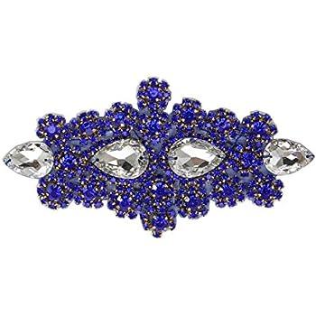 Royal Blue High Quality Hot Fix// Iron On Crystal Diamante Rhinestones
